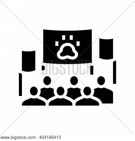 Demonstration For Free Animal Glyph Icon Vector. Demonstration For Free Animal Sign. Isolated Contou