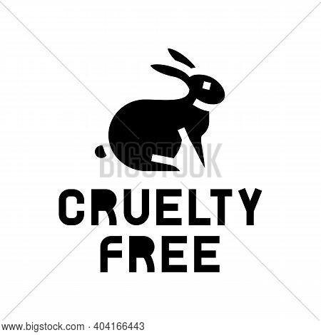 Cruelty Free Glyph Icon Vector. Cruelty Free Sign. Isolated Contour Symbol Black Illustration