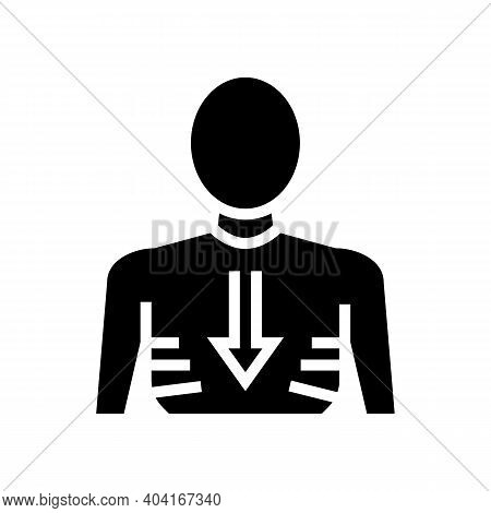 Weight Losing Glyph Icon Vector. Weight Losing Sign. Isolated Contour Symbol Black Illustration