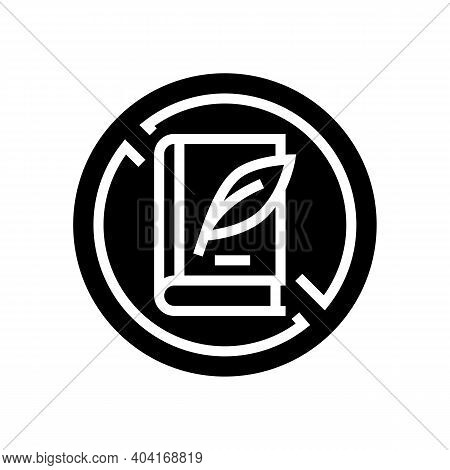 Lack Of Education Poverty Problem Glyph Icon Vector. Lack Of Education Poverty Problem Sign. Isolate