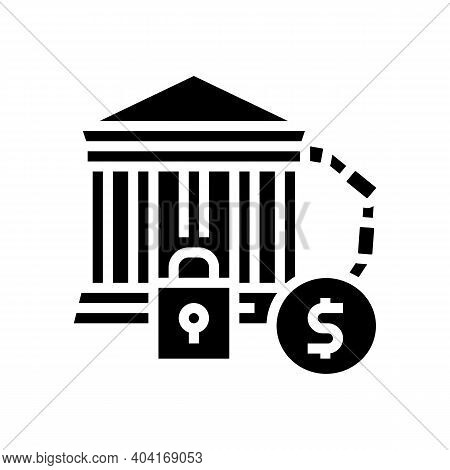 Bankruptcy Poverty Problem Glyph Icon Vector. Bankruptcy Poverty Problem Sign. Isolated Contour Symb