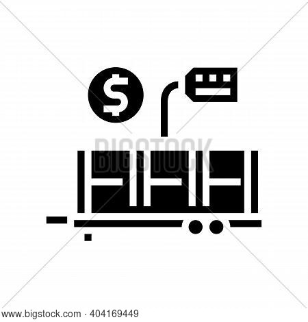 Industry Product Transportation Trailer Glyph Icon Vector. Industry Product Transportation Trailer S