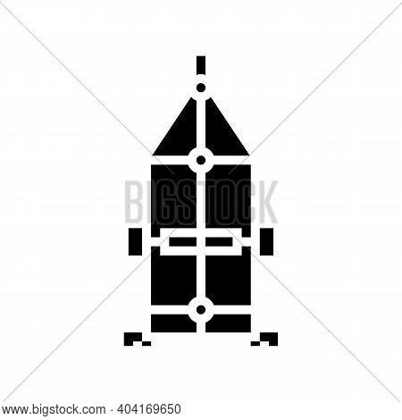 Carriage Trailer Glyph Icon Vector. Carriage Trailer Sign. Isolated Contour Symbol Black Illustratio