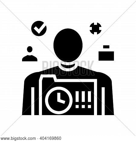 Responsibility People Value Glyph Icon Vector. Responsibility People Value Sign. Isolated Contour Sy
