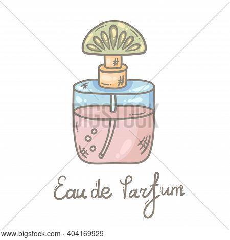 Eau De Parfum Perfume Fragrance Doodle Line Icon