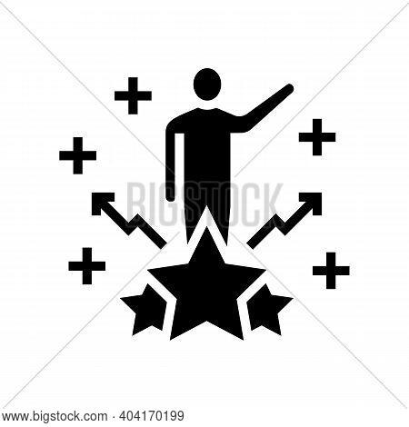 Talent People Value Glyph Icon Vector. Talent People Value Sign. Isolated Contour Symbol Black Illus