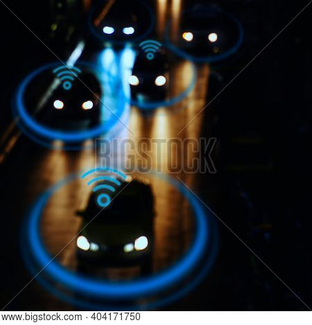 Driverless car in a smart city automotive technology for social media post