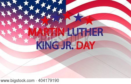Abstract American Flag For Martin Luther King Day, Art Video Illustration.