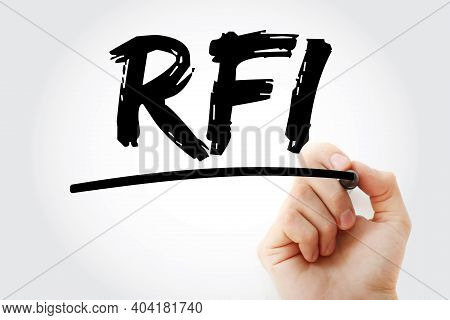 Rfi - Request For Information Acronym With Marker, Business Concept Background