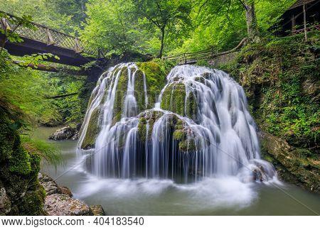 Bigar Waterfall One Of The Most Beautiful Waterfalls In The World. Romania.