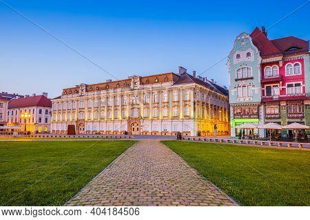 Timisoara, Romania. Union Square, Banat Historical Region.