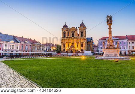 Timisoara, Romania. The Dome In Union Square, Banat Historical Region.