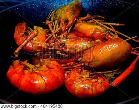 Fried Scampi ,attukonchu, Jinga , Golda Chingdi , Dublin Bay Prawn ,nephrops Norvegicus Or Norway Lo
