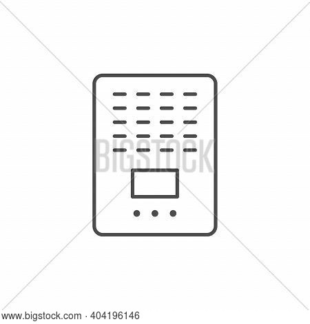 Air Purifier Line Outline Icon Isolated On White. Vector Illustration