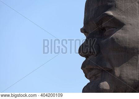 Ulan-ude, Russia - July 29 2018: The Monument To Lenin Is The Largest Head Of Soviet Leader Vladimir