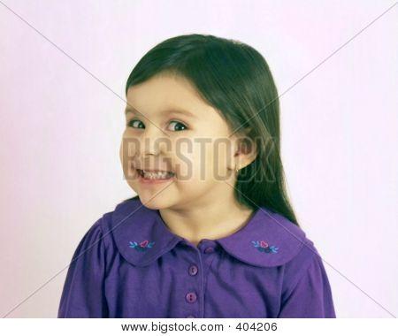 Happy Native American Girl Headshot