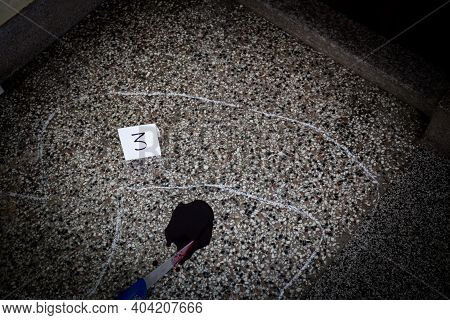 Crime Scene, Murder, Investigation, Police Find Discarded Gun Used By Killer, Taken As Evidence Of M