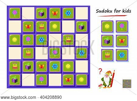 Sudoku For Kids. Logic Puzzle Game For Children And Adults. Play Online. Memory Training Exercises F