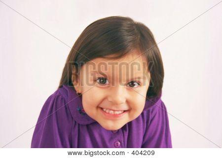 Cute Little Girl In Purple