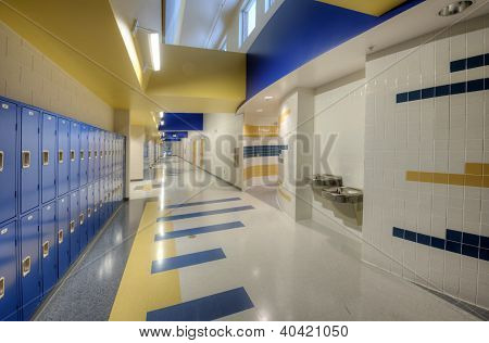Hallway at Public High School