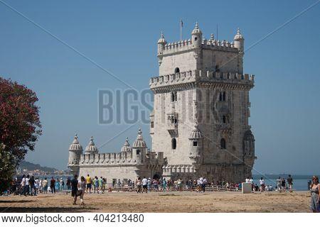Lisbon, Portugal - July 24, 2011: Belem Tower In Lisbon, Portugal.