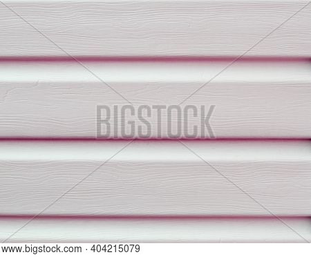Siding Texture On The Wall, Pink Background.