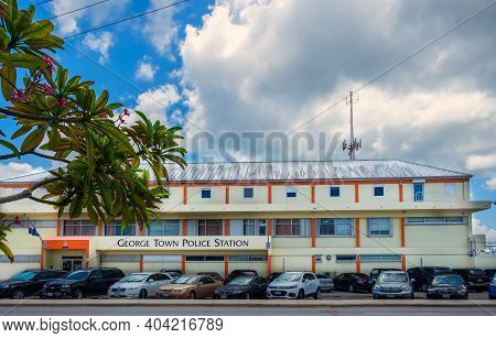 Grand Cayman, Cayman Islands, July 2020, View Of The Exterior Of George Town Police Station