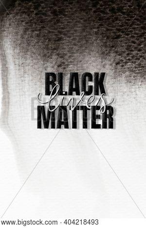 Black lives matter typography black textured background