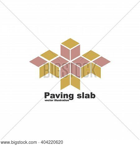 Paving Slabs Logo. Floor Covering In The City. Brand Name, Production Trade Mark. Vector Illustratio