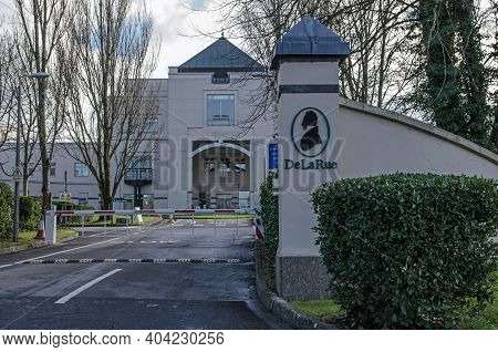 Basingstoke, Uk - January 17, 2021:  Headquarters Of The Bank Note And Passport Printers De La Rue I