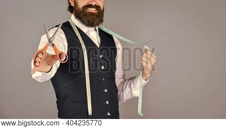 Amazing Atelier With Antique Furniture. Tailor-made Custom-made Suit For Model. Business Shirt Tailo