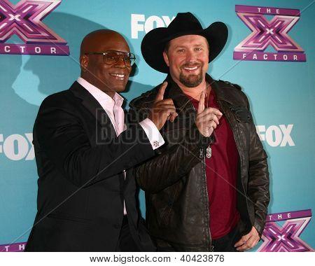 LOS ANGELES - DEC 20:  LA Reid, Tate Stevens - Winner of 2012 X Factor at the 'X Factor' Season Finale at CBS Television City on December 20, 2012 in Los Angeles, CA