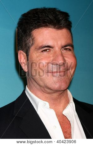 LOS ANGELES - DEC 20:  Simon Cowell at the 'X Factor' Season Finale at CBS Television City on December 20, 2012 in Los Angeles, CA