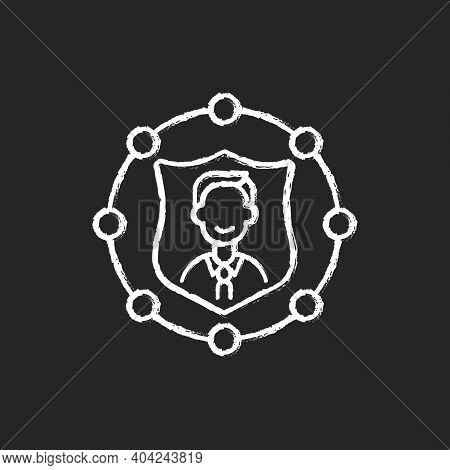 Accountability Chalk White Icon On Black Background. Trust In Business. Company Ethics And Policy. L