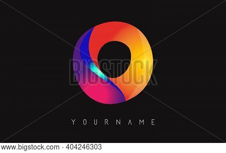 Letter O Logo With Gradient Color Design. Business Card Templates. Colorful Rounded Vector Illustrat