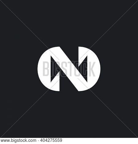 Letter N Simple Geometric Cross Design Logo Vector