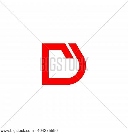 Abstract Letter Rd Simple Geometric Link Logo Vector