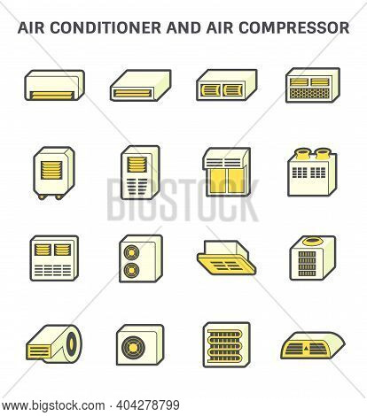 Air Conditioner And Air Compressor Or Condenser Unit Both Is A Part Of Cooling Function And Air Cond
