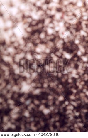 Defocused Brown And White Background. Use For Texture And Background. Blurred Ants. Blurred Image Of