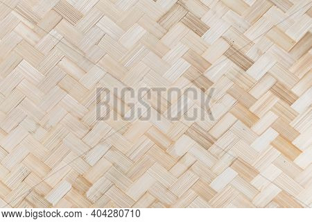 Bamboo Weave Background, Traditional Handcraft Bamboo Weave Thai Style Pattern Background.