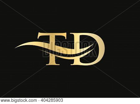 Initial Letter Td Linked Logo For Business And Company Identity. Modern Letter Td Logo Vector Templa
