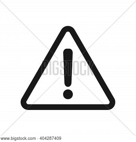 Exclamation Mark Vector Icon. Warning And Caution Triangle Sign.  Danger And Error Logo Symbol. Appl