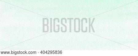 Green Mint Watercolour Background, Watercolour Painting Soft Textured On Wet White Paper Background,