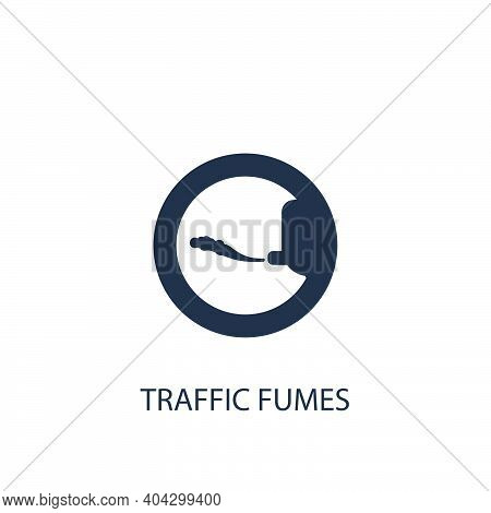 Traffic Fumes Icon. Simple Ecology Element Illustration. Vector Symbol Design From Nature Collection