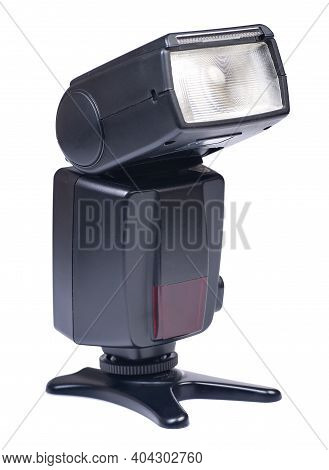 Camera Flash Isolated On A White Background
