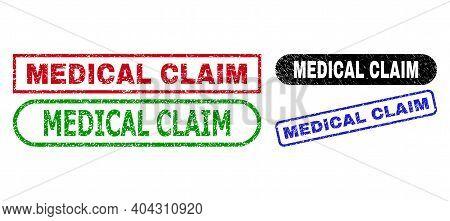 Medical Claim Grunge Seal Stamps. Flat Vector Grunge Seal Stamps With Medical Claim Message Inside D