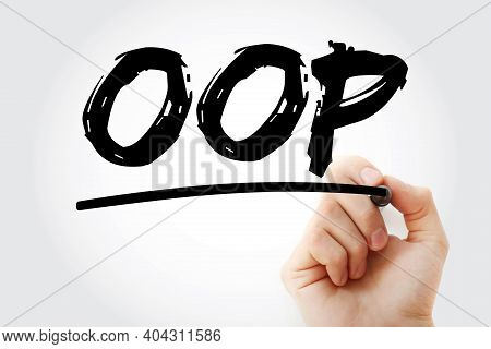 Oop - Object Oriented Programming Acronym With Marker, Technology Concept Background