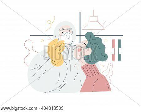 Medical Tests Illustration - Testing For Covid-19 - Modern Flat Vector Illustration Of Coronavirus T