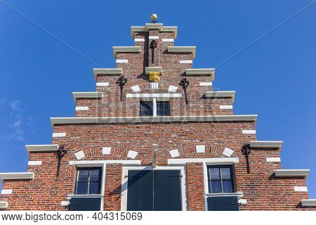 Step Gable On A Historic House In Elburg, Netherlands