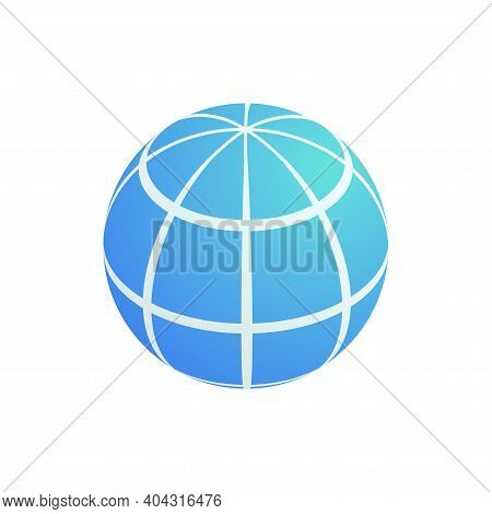 Isometric World Planet Globe Icon. 3d Simple Earth Symbol. Vector Illustration Design Element For We
